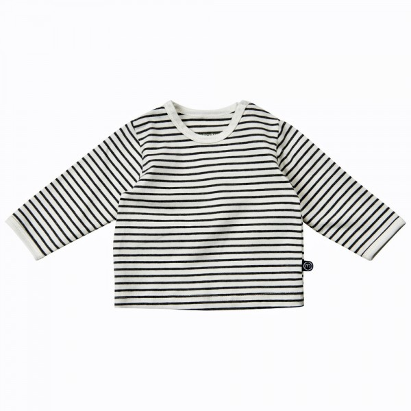 MINYMO Langarm Shirt White Stripes