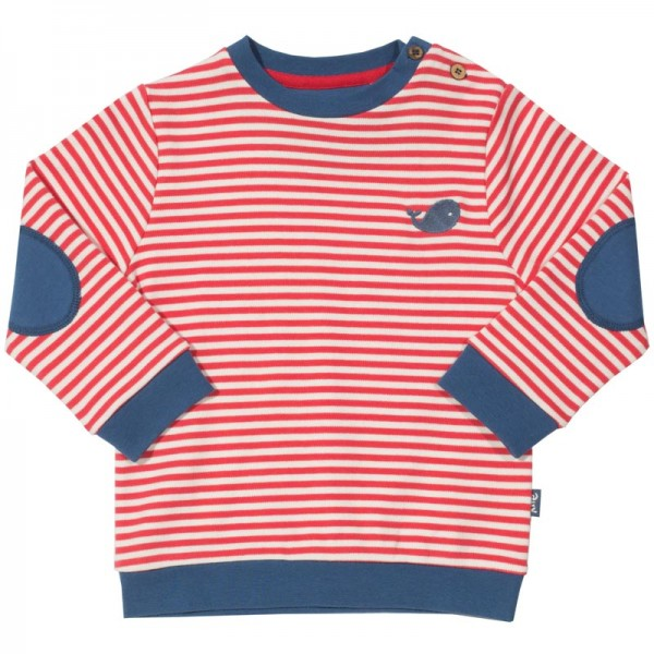 KITE Sweatshirt STRIPES rot/weiss