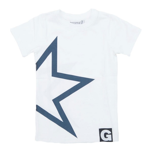 GEGGAMOJA T-Shirt STAR TEE weiss