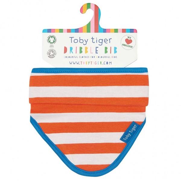 TOBY TIGER Dribble Bib STRIPES orange/weiss