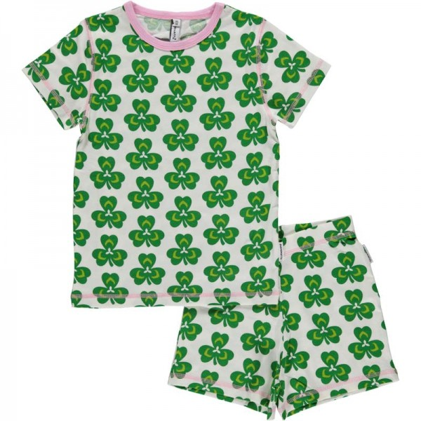 MAXOMORRA kurzarm Pyjama CLOVER