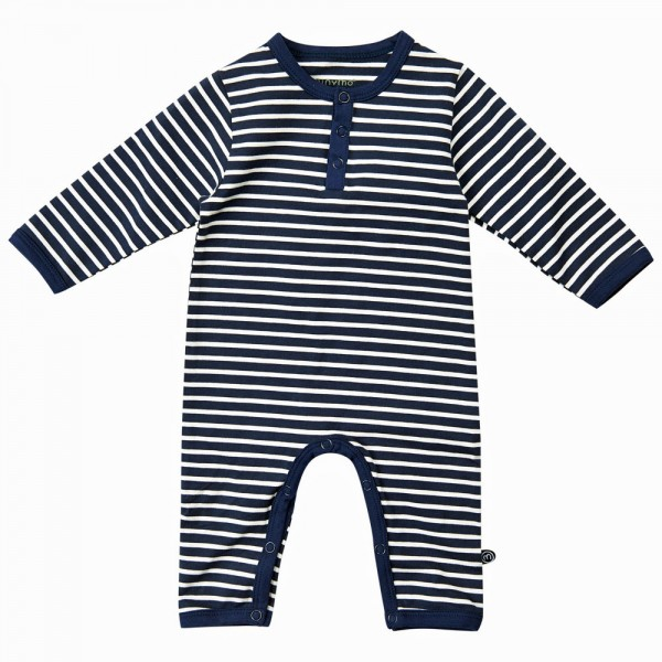 MINYMO Strampler Navy Stripes