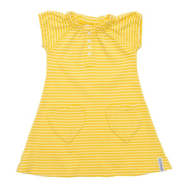 GEGGAMOJA Dress HEART gelb/weiss