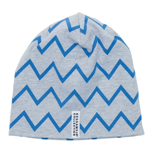 GEGGAMOJA Mütze ZICK ZACK blau