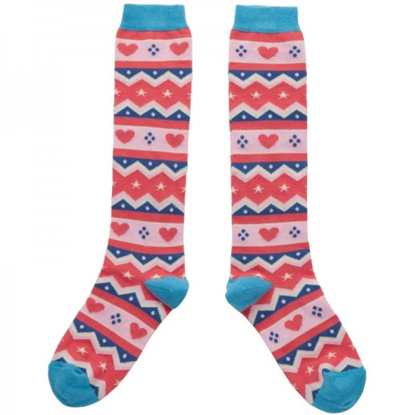 PICCALILLY Kniesocken FAIR ISLE GIRLS