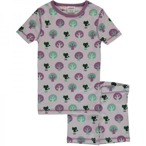 MAXOMORRA kurzarm Pyjama PARK