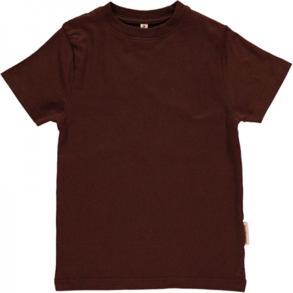 MAXOMORRA T-Shirt SOLID Dunkelbraun