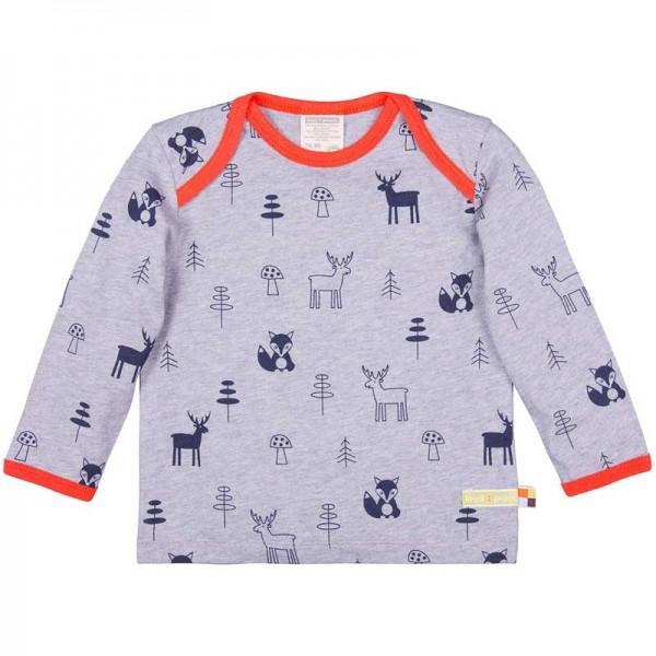 LOUD + PROUD langarm Shirt WALD mit Woll-Anteil