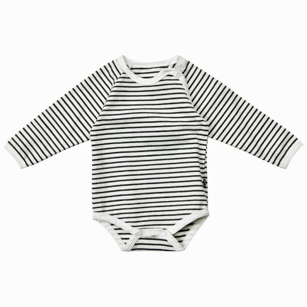 MINYMO Langarm Body White Stripes