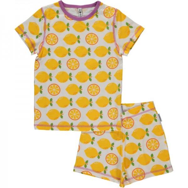 MAXOMORRA kurzarm Pyjama LEMON