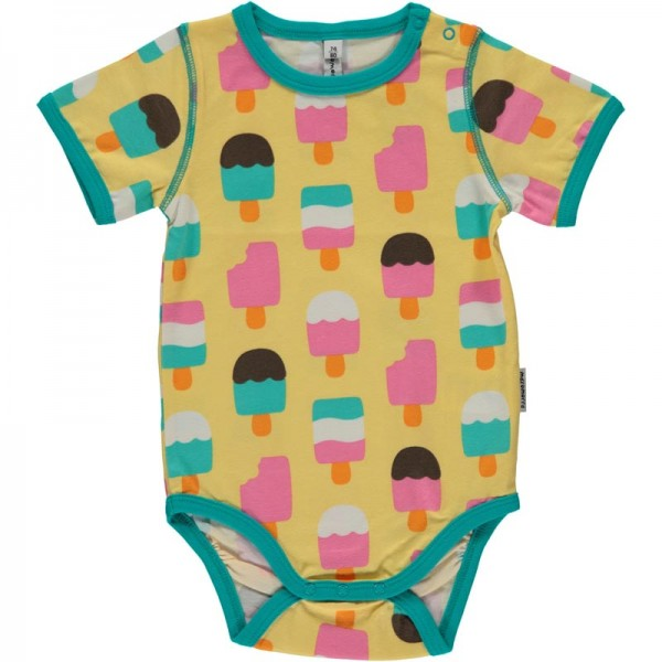 MAXOMORRA kurzarm Baby Body ICE CREAM YELLOW