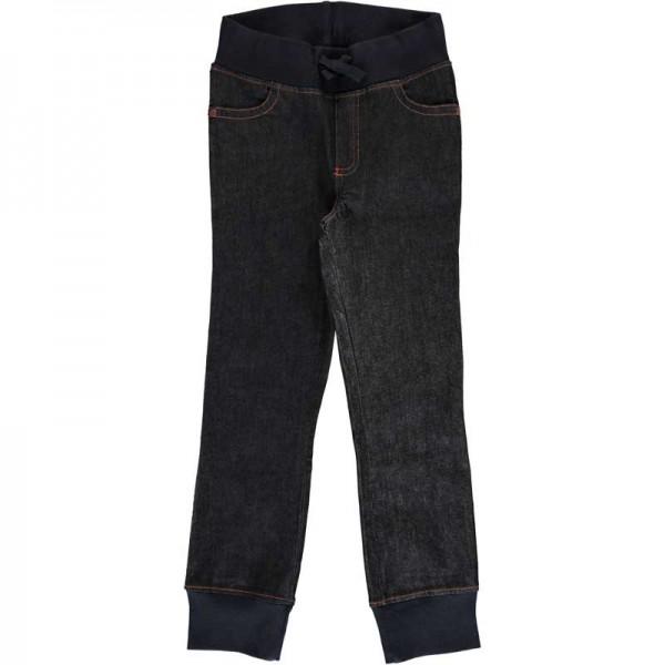 Biobaumwolle Maxomorra Pants Rib Blue Ocean GOTS zertifiziert